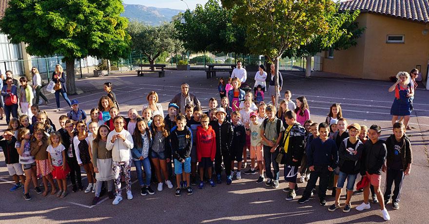 rentrée scolaire 2018  Aubignosc